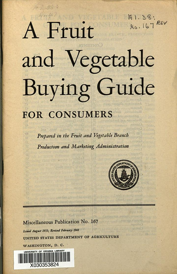 A Fruit and Vegetable Buying Guide for Consumers