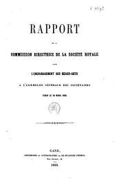 Rapport de la commission directrice de la société royale pour l'encouragement des beaux-arts à l'assemblée générale des sociétaires tenue le 20 mars 1860