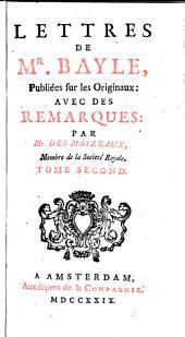Lettres de M Bayle: Volume2