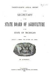 Report of the Secretary: Volume 28