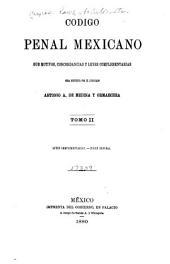 Código penal mexicano: sus motivos, concordancias y leyes complementarias, Volumen 2