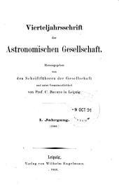Vierteljahrschrift der astronomischen Gesellschaft