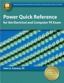 Power Quick Reference For The Electrical And Computer Pe Exam Book PDF