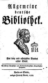 Allgemeine deutsche Bibliothek: Band 83