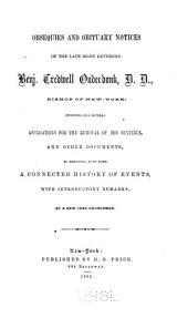 Obsequies and Obituary Notices of the Late Right Reverend Benj. Tredwell Onderdonk, D.D., Bishop of New-York: And Other Documents