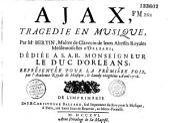 Ajax, Tragedie en Musique,