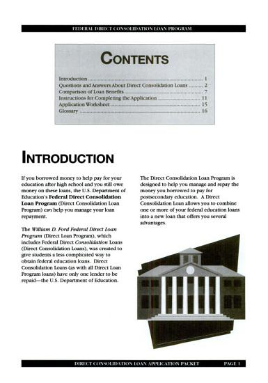 Guide to Direct Consolidation Loans PDF