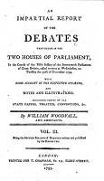 An Impartial Report of the Debates that Occur in the Two Houses of Parliament PDF
