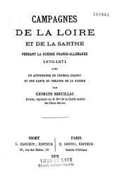 Campagnes de la Loire et de la Sarthe pendant la guerre franco-allemande 1870-1871