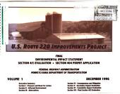 US Route 220 Transportation Improvements Project, Bald Eagle Village to I-80, Blair County, Centre County: Environmental Impact Statement, Volume 1