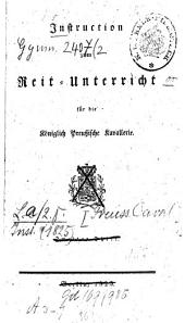 Instruktion zum Reit-Unterricht für die Königlich-Preußische Kavallerie: Band 2