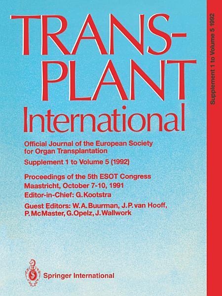 Download Transplant International Official Journal of the European Society for Organ Transplantation Book