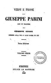 Versi e prose di Giuseppe Parini