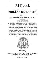 Rituel du diocèse de Belley, publ. par. A.-R. Devie