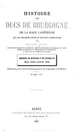 Histoire des ducs de Bourgogne de la race Capétienne: Volume7