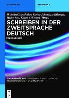 Schreiben in der Zweitsprache Deutsch PDF