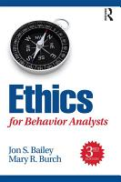 Ethics for Behavior Analysts  3rd Edition PDF