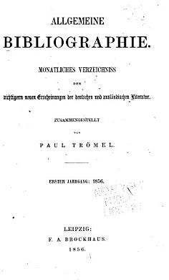 Allgemeine Bibliographie PDF