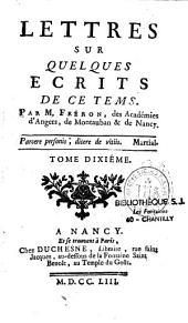 Lettres sur quelques écrits de ce tems: Volume1