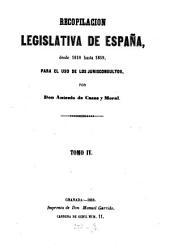 Recopilacion concordada y comentada de la coleccion legislativa de España: Para el uso de los jurisconsultos, Volumen 4