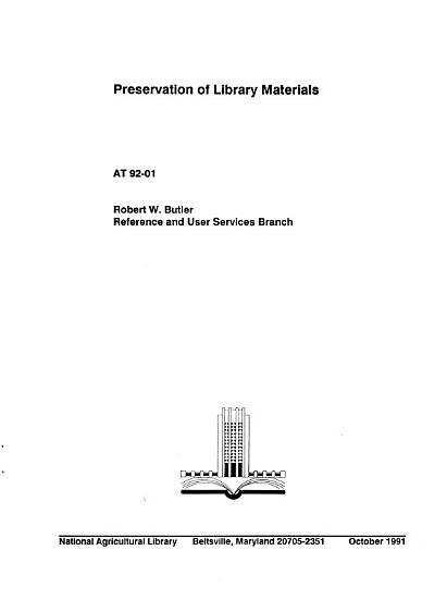 Preservation of Library Materials PDF