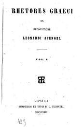 Rhetores Graeci: Volume 1
