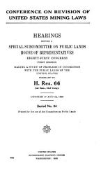 Conference on Revision of United States Mining Laws PDF