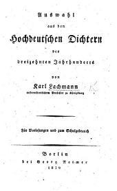 Auswahl aus den Hochdeutschen Dichtern des dreizehnten Jahrhunderts