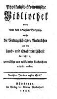 Physikalisch   konomische Bibliothek PDF