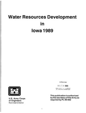 Water Resources Development in Iowa     by the US Army Corps of Engineers PDF