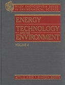Encyclopedia of Energy Technology and the Environment  Volume Four PDF