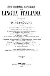 Nòve dizionàrio universale della lingua italiana: Volume 1
