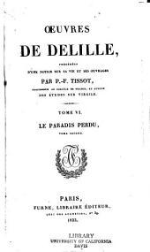 Oeuvres de Delille: Volume6
