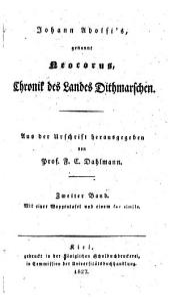 Chronik des Landes Dithmarschen: Band 2