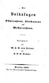 Die Volkssagen Ostpreussens, Litthauens und Westpreussens
