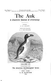 The Auk: Volume 7
