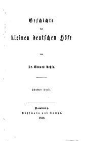 Geschichte der deutschen höfe seit der reformation: Band 39