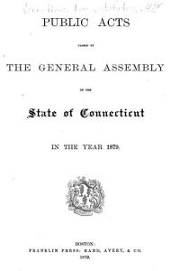 Public Acts Passed by the General Assembly of the State of Connecticut PDF