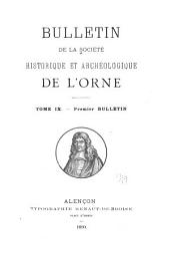 Bulletin de la Société historique et archéologique de l'Orne: Volume9