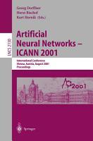 Artificial Neural Networks   ICANN 2001 PDF