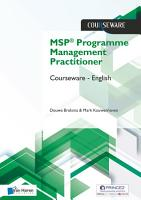 MSP   Programme Management Practitioner Courseware     English PDF