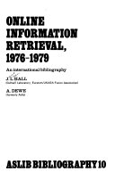 Online Information Retrieval  1976 1979 PDF