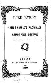 Childe Harold's pilgrimage: Italy