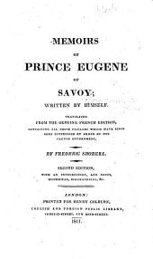 Memoirs of Prince Eugene of Savoy
