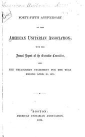 Anniversary of the American Unitarian Association