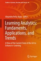Learning Analytics  Fundaments  Applications  and Trends PDF