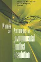 The Promise and Performance of Environmental Conflict Resolution PDF