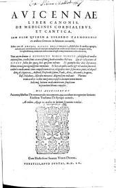 Liber canonis de medicinis cordialibus