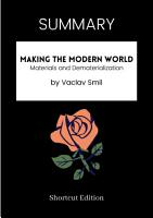 SUMMARY   Making The Modern World  Materials And Dematerialization By Vaclav Smil PDF