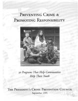 Preventing Crime and Promoting Responsibility PDF